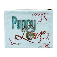 Puppy Love Extra Large Cosmetic Bag By Catvinnat   Cosmetic Bag (xl)   Tgog9m0oob5h   Www Artscow Com Back