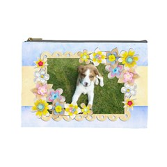 Spring Fling Large Cosmetic Bag By Catvinnat   Cosmetic Bag (large)   Cgvmmtq4dqn7   Www Artscow Com Front