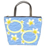 Blue Butterfly and Frangipani Bucket Bag (2sides)