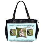 Pawprints in my Heart Oversized Office Bag - Oversize Office Handbag (2 Sides)