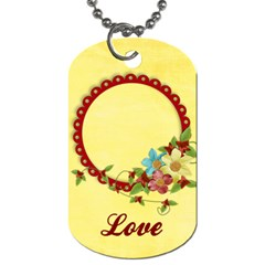 Floral/love, Dog Tag, 2 Sides, Template By Mikki   Dog Tag (two Sides)   J4edgnhlzisp   Www Artscow Com Front