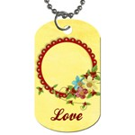 Floral/Love, dog tag, 2 sides, template - Dog Tag (Two Sides)