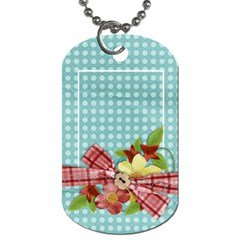 Floral/love, Dog Tag, 2 Sides, Template By Mikki   Dog Tag (two Sides)   J4edgnhlzisp   Www Artscow Com Back