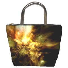 Green Abstract Light Bucket Bag By Bags n Brellas   Bucket Bag   322qrxddekga   Www Artscow Com Front
