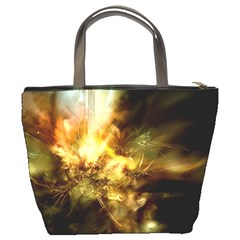 Green Abstract Light Bucket Bag By Bags n Brellas   Bucket Bag   322qrxddekga   Www Artscow Com Back