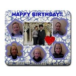 birthday - Large Mousepad