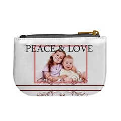 Peace & Love By Wood Johnson   Mini Coin Purse   2algex32w4ma   Www Artscow Com Back
