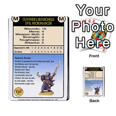 Warhammer Quest 2 By Kieren   Multi Purpose Cards (rectangle)   L3an5b4sp9nt   Www Artscow Com Front 34