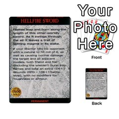 Warhammer Quest 2 By Kieren   Multi Purpose Cards (rectangle)   L3an5b4sp9nt   Www Artscow Com Front 40