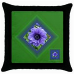 Delightful green Throw Pillow - Throw Pillow Case (Black)
