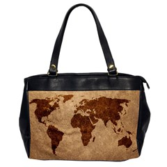 Two Sided Office Bag Leather Map By Bags n Brellas   Oversize Office Handbag (2 Sides)   85qbhirxyil1   Www Artscow Com Front