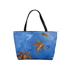 Golden Leaves Shoulder Bag By Bags n Brellas   Classic Shoulder Handbag   1ap2796vtai7   Www Artscow Com Front