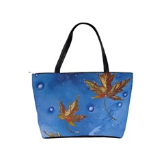 Golden Leaves Shoulder Bag By Bags n Brellas   Classic Shoulder Handbag   1ap2796vtai7   Www Artscow Com Back