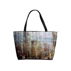 Weathered Cityscape Shoulder Bag By Bags n Brellas   Classic Shoulder Handbag   D9xpa7fjwc7r   Www Artscow Com Front