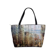 Weathered Cityscape Shoulder Bag By Bags n Brellas   Classic Shoulder Handbag   D9xpa7fjwc7r   Www Artscow Com Back