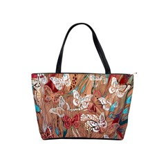 Abstract Butterflies Shoulder Bag By Bags n Brellas   Classic Shoulder Handbag   04ofbj13kw9e   Www Artscow Com Front