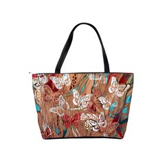 Abstract Butterflies Shoulder Bag By Bags n Brellas   Classic Shoulder Handbag   04ofbj13kw9e   Www Artscow Com Back