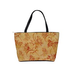 Butterflies Orange Shoulder Bag By Bags n Brellas   Classic Shoulder Handbag   Gfepv7vmr1a1   Www Artscow Com Back