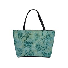 Butterflies Teal Shoulder Bag By Bags n Brellas   Classic Shoulder Handbag   3x1wgn0h4c7j   Www Artscow Com Front