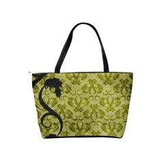 Green Swirls Shoulder Bag By Bags n Brellas   Classic Shoulder Handbag   29ot9nbp6cma   Www Artscow Com Back