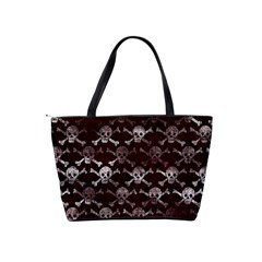 Skull Pattern  Shoulder Bag By Bags n Brellas   Classic Shoulder Handbag   Sghslkq22auo   Www Artscow Com Back