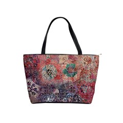 Distressed Flowers  Shoulder Bag By Bags n Brellas   Classic Shoulder Handbag   V97cztwt98le   Www Artscow Com Front