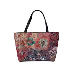 Distressed Flowers  Shoulder Bag By Bags n Brellas   Classic Shoulder Handbag   V97cztwt98le   Www Artscow Com Back