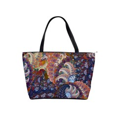Blue Spirals   Shoulder Bag By Bags n Brellas   Classic Shoulder Handbag   Jo5199mon6hl   Www Artscow Com Front