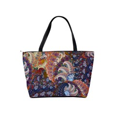 Blue Spirals   Shoulder Bag By Bags n Brellas   Classic Shoulder Handbag   Jo5199mon6hl   Www Artscow Com Back