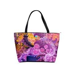 Purple Spirals   Shoulder Bag By Bags n Brellas   Classic Shoulder Handbag   Om1srqdi53yi   Www Artscow Com Front