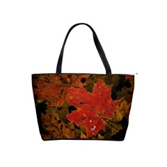 Fall Leaf Shoulder Bag By Bags n Brellas   Classic Shoulder Handbag   9x3ohsxwmto0   Www Artscow Com Front