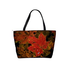 Fall Leaf Shoulder Bag By Bags n Brellas   Classic Shoulder Handbag   9x3ohsxwmto0   Www Artscow Com Back