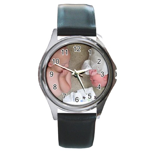 Betty3 By Audra Senft   Round Metal Watch   Hc391zvivhj4   Www Artscow Com Front