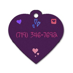 Sadie By Jami Pace   Dog Tag Heart (two Sides)   Dpw6u0uuyjdh   Www Artscow Com Back