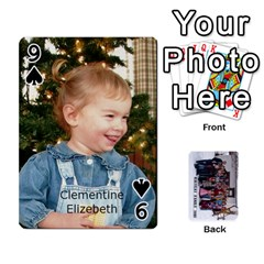 Family Cards By Charis Balyeat   Playing Cards 54 Designs   Inj0nlgo0lwl   Www Artscow Com Front - Spade9