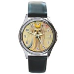 Yorkie Valentine Princess Round Metal Watch