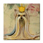 Yorkie Valentine Princess Tile Coaster