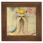 Yorkie Valentine Princess Framed Tile