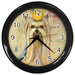 Yorkie Valentine Princess Wall Clock (Black)
