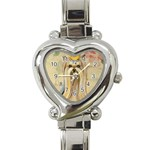 Yorkie Valentine Princess Heart Italian Charm Watch