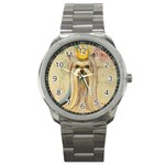Yorkie Valentine Princess Sport Metal Watch