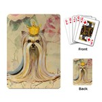 Yorkie Valentine Princess Playing Cards Single Design