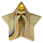 Yorkie Valentine Princess Star Ornament (Two Sides)
