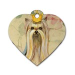 Yorkie Valentine Princess Dog Tag Heart (Two Sides)