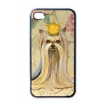 Yorkie Valentine Princess Apple iPhone 4 Case (Black)