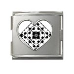 Gp041 Mega Link Heart Italian Charm (18mm)