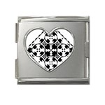 Gp040 Mega Link Heart Italian Charm (18mm)