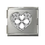 Gp039 Mega Link Heart Italian Charm (18mm)