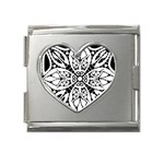 Gp038 Mega Link Heart Italian Charm (18mm)