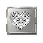 Gp037 Mega Link Heart Italian Charm (18mm)